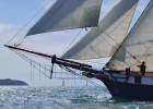Navigation de La Recouvrance sur la rade de Brest.